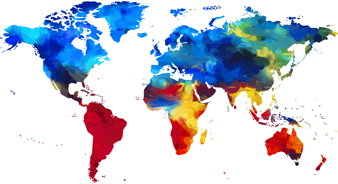 Give-Colorful water color map of the world.